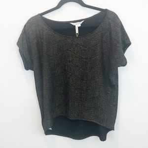BCBGeneration | black and gold top NWT